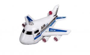 Avion cu lumini si sunet real de decolar