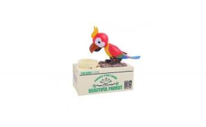Pusculita interactiva model papagal,