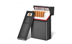Tabachera cu Bricheta Electrica halber®, pachet pentru tigari scurte