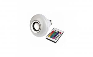 Bec bluetooth LED cu boxa
