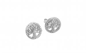 dantela înăuntru priza de fabrica 50% preț Cercei rotunzi din argint - Copacul Vietii - Arhivat