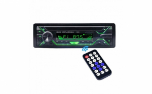 Radio MP3 Player 60W x 4 cu Bluetooth, telecomanda si 7 lumini taste RGB interschimbabile