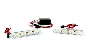 Stroboscoape LED 12V - ROSU/ALBASTRU
