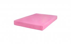 Cearceaf roz de pat cu elastic 160 x 200 cm, Bumbac