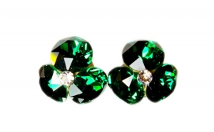 Cercei Xirius X3, Emerald, Argint 925,