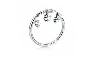 Inel argint 925 cu amprente labute