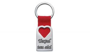 Breloc personalizat metalic inima