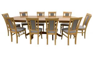 Set Masa 10 scaune stejar 160 cm