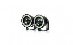 Set 2 proiectoare auto cu LED Angel Eyes,  64 mm