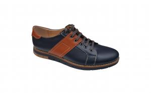 Pantofi de primavara din piele naturala bleumarin