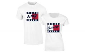 Set de tricouri albe Original King