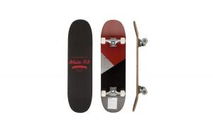 Skateboard ABEC-9 Amortizare PU Negru/Rosu 80 x 21 cm