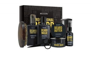 Set complet professional pentru ingrijire barba, Bellezon, 8 piese