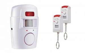 Alarma de securitate fara fir, senzor de miscare si 2 telecomenzi