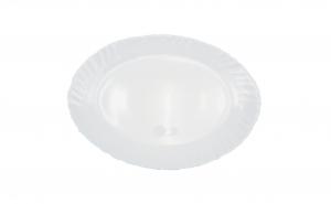 Set 3 platouri,opal,alb,25 cm