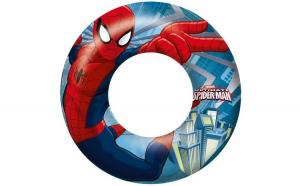 Colac gonflabil de inot pentru copii, model Spiderman, 56 cm