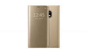 Husa Samsung Galaxy J3 2017 Flippy Flip Cover Oglinda Auriu