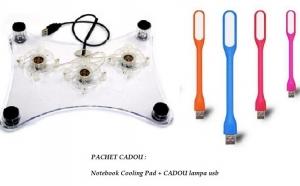 Notebook cooling Pad + CADOU lampa usb, la doar 28 RON in loc de 58 RON