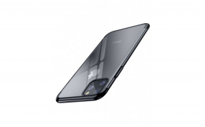 Husa protectie Iphone Iphone 11 Pro, cu folie de protectie anti-soc, transparent/negru, Gonga