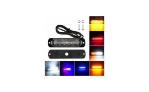 Lampa LED stroboscopica profesionala ROSU 4 LED 12-24V