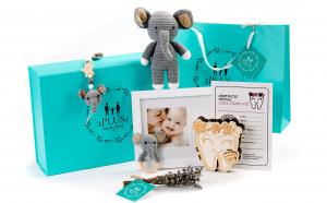 "Set cadou personalizat ""Flowers"" pentru mama si bebelus, cadou nou nascut, baby shower"