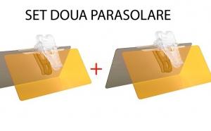 Set de doua Parasolare AUTO, cu functie dubla -zi si noapte- la 78 RON in loc de 199 RON