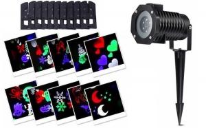 Proiector LED 4 Anotimpuri pentru exterior, cu 12 diapozitive interschimbabile