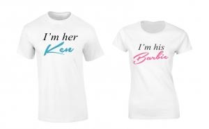 """Set tricouri pentru cupluri """"I'm Her Ken/ His Barbie"""""""