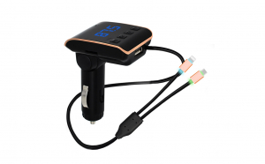 Modulator FM, Bluetooth, Car Kit OEM USB Q10 + 2 cabluri adaptoare