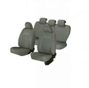Huse scaune auto SEAT LEON  1999-2010  dAL Elegance Gri,Piele ecologica + Textil