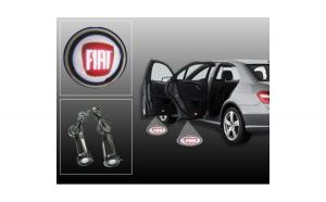 Proiectoare Portiere cu Logo Fiat -