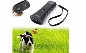 Aparat portabil cu ultrasunete, impotriva cainilor agresivi, sau pentru dresaj