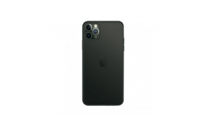 Husa de protectie ultra slim, Iphone 11 Pro Max, negru transparent, Gonga