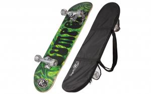 Skateboard din lemn cu husa RCO, ABEC5, PU, 78,5 cm, Aluminiu, HB2005C