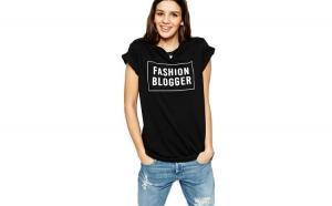Tricou dama negru  - Fashion Blogger