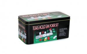 Set poker 200 piese, set profesional complet de chipsuri si carti