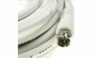 Cablu RG-6 Coaxial, mufe F, 5 metri