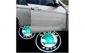 Proiectoare Portiere cu Logo Skoda -