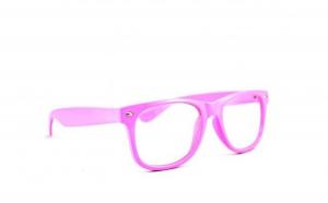 Rame cu lentile transparente Wayfarer Roz