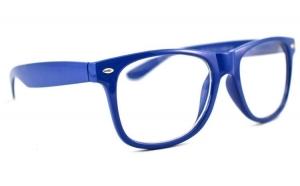 Ochelari - Rame cu lentile transparente tip Passenger Albastru