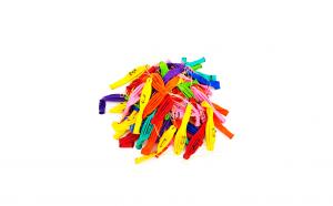 Set 100 baloane colorate (punch) cu snur, 45 cm