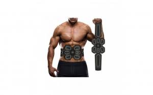 Centura pentru electrostimulare, abdomen, muschii oblici, alimentare USB