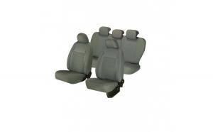Huse scaune auto SKODA OCTAVIA I 2000-2010  dAL Elegance Gri,Piele ecologica + Textil