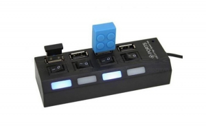 Hub Usb 4 porturi cu butoane individuale on/ off