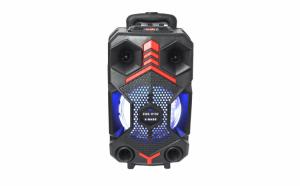 Boxa portabila 100w, tip troler, ZQS-8102 X-BASS, bluetooth, fm, usb, slot microSD + microfon si telecomanda