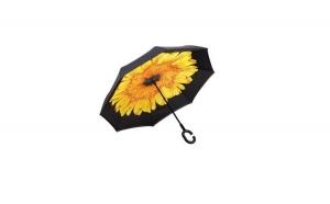 Umbrela de ploaie reversibila - 106 cm - imprimeu interior Floarea soarelui