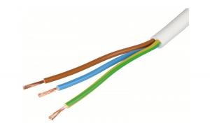 Cablu electric MYYM H05VV-F 3X2.5 alb