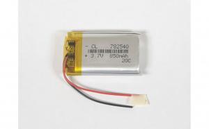 782540 - Acumulator Li-Polymer - 3,7 V - 850mah - 25x40x7,8 mm
