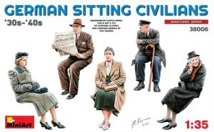 1:35 German Sitting Civilians 30s-40s -
