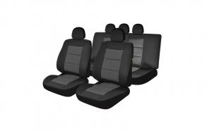Huse scaune auto compatibile NISSAN Pathfinder IV 2013-prezent PLUX (Negru UMB2)